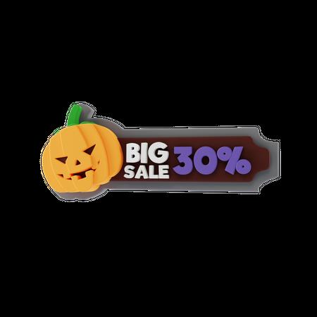 Halloween Big Sale 3D Illustration