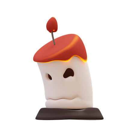 Halloween Burning Candle 3D Illustration