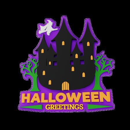 Halloween Greetings 3D Illustration