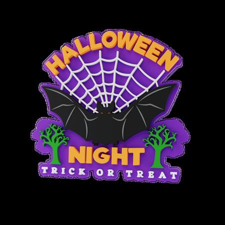 Halloween Night 3D Illustration
