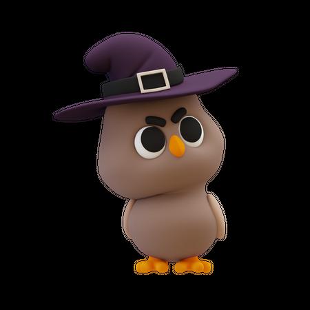 Halloween Owl 3D Illustration