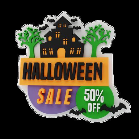 Halloween Sale 3D Illustration