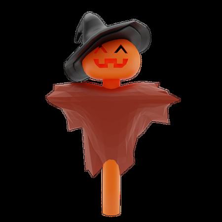 Halloween Scarecrow 3D Illustration