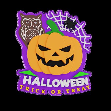 Halloween Trick Or Treat 3D Illustration