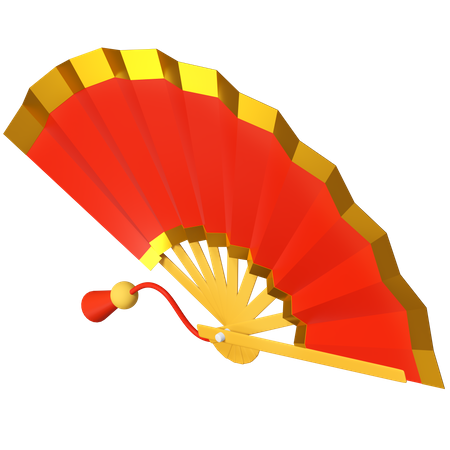 Hand Fan 3D Illustration