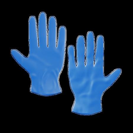Hand Gloves 3D Illustration