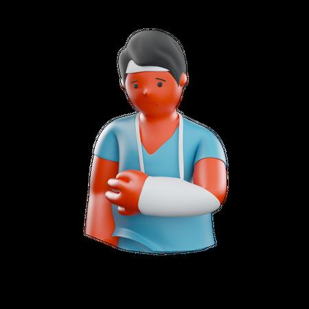 Hand Injury 3D Illustration