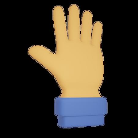 Hand sign 3D Illustration
