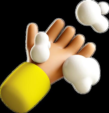 Hand wash 3D Illustration