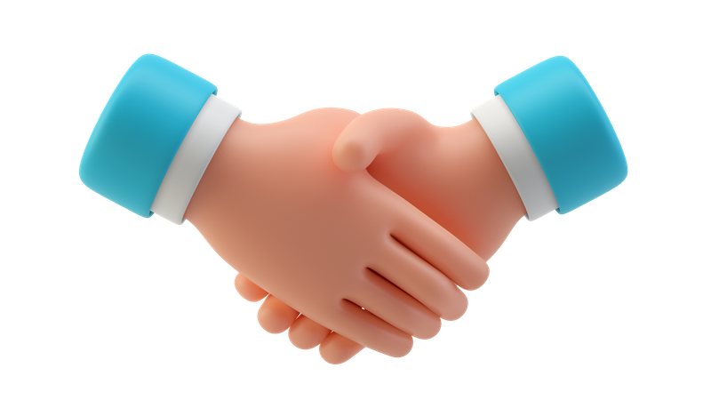 Handshake 3D Illustration