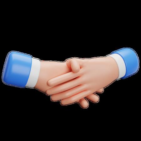Handshake Gesture 3D Illustration