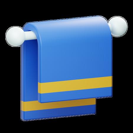 Hanged Towel 3D Illustration