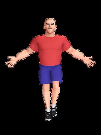 Happy Man 3D Illustration