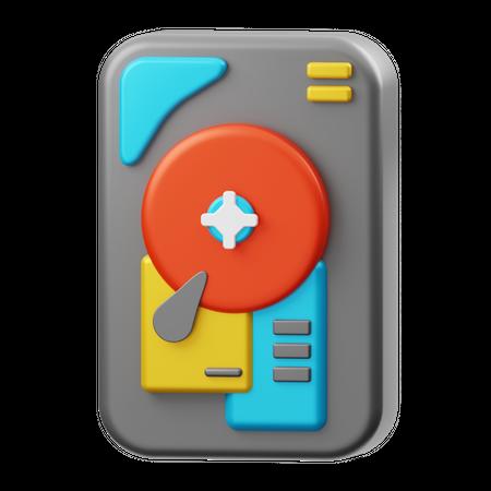 Hard Disk 3D Illustration