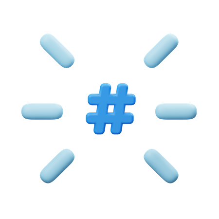 Hashtag 3D Illustration