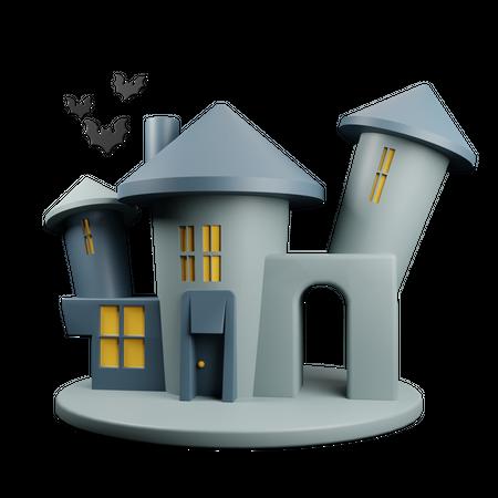Haunted House 3D Illustration