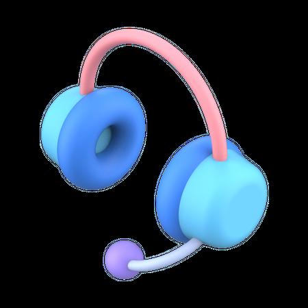Headphone 3D Illustration