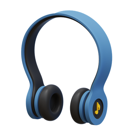 Headphones 3D Illustration
