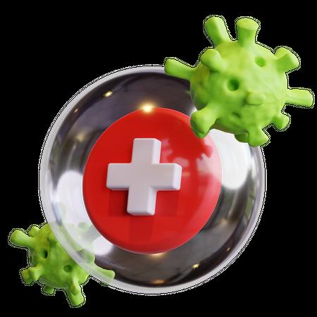 Health Protection 3D Illustration