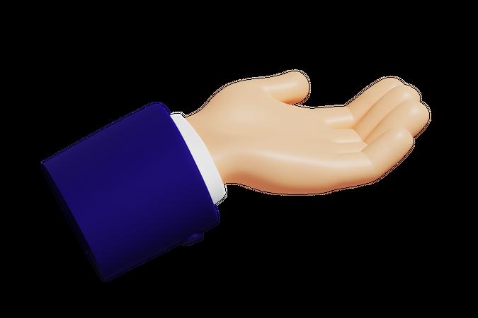 Help Hand Gesture 3D Illustration