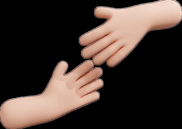 Helping hand 3D Illustration