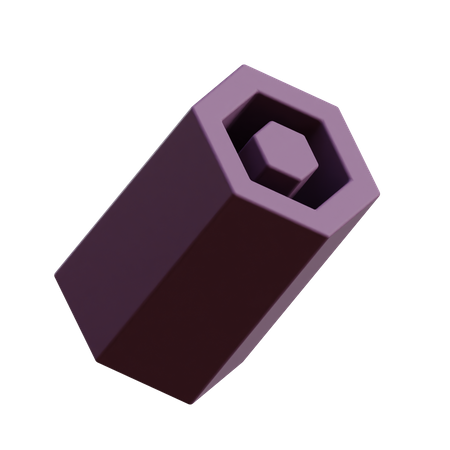 Hexagon Extrusion 3D Illustration