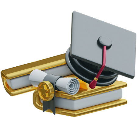 Higher Education 3D Illustration