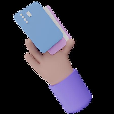 Holding Card 3D Illustration