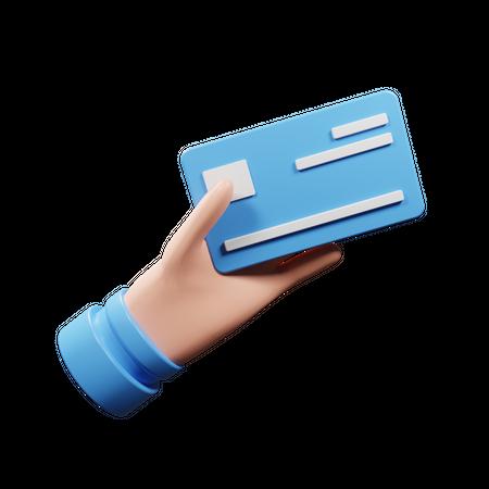 Holding Credit Card 3D Illustration