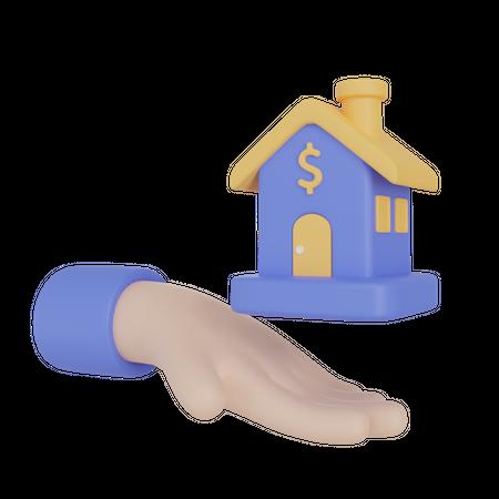 Home Loan 3D Illustration