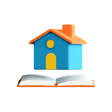 Home School 3D Illustration