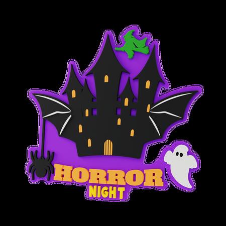 Horror Night 3D Illustration