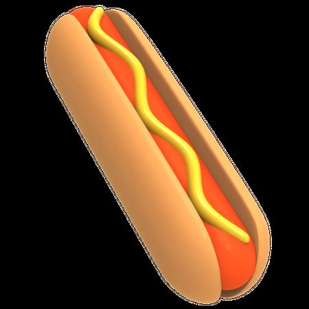 Hot Dog 3D Illustration