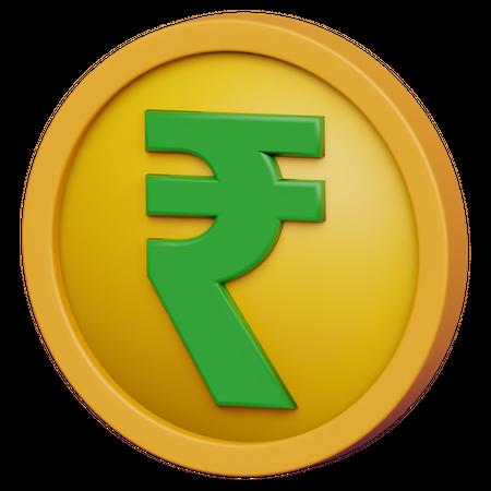 Indian Rupee 3D Illustration
