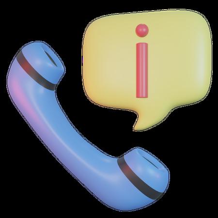 Information Call 3D Illustration