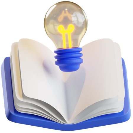 Innovation book 3D Illustration