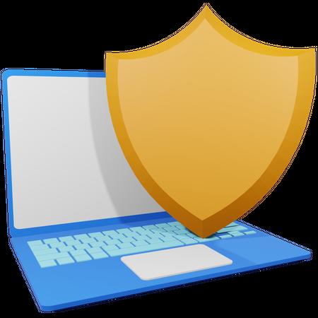 Internet Security 3D Illustration