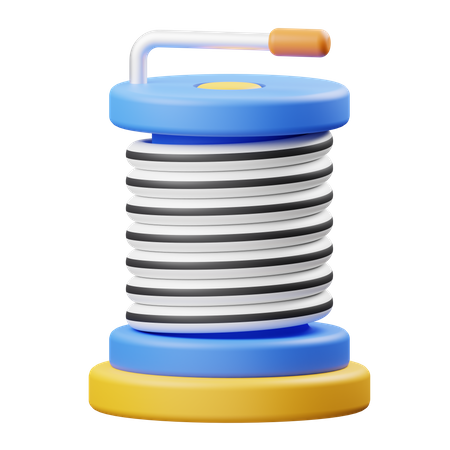 Iron Cable Roll 3D Illustration