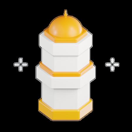 Islamic Tower 3D Illustration