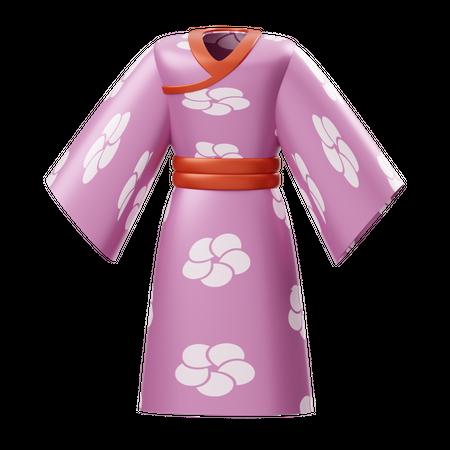 Japanese Kimono 3D Illustration