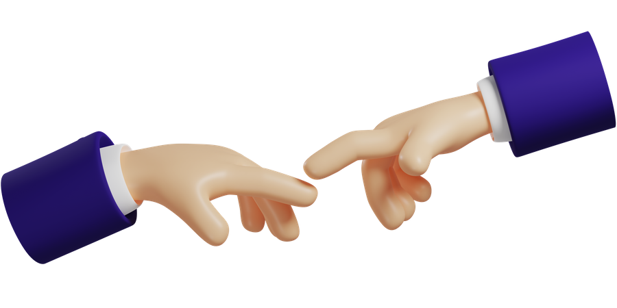 Join Hands Hand Gesture 3D Illustration