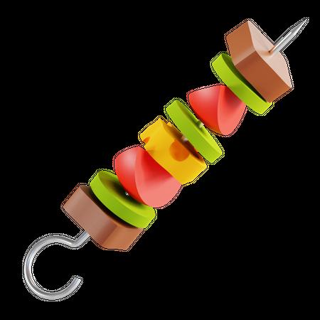 Kabab 3D Illustration