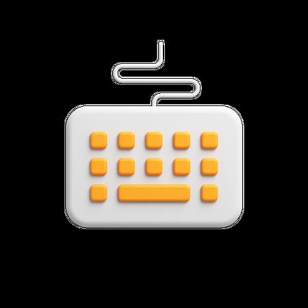 Keyboard 3D Illustration