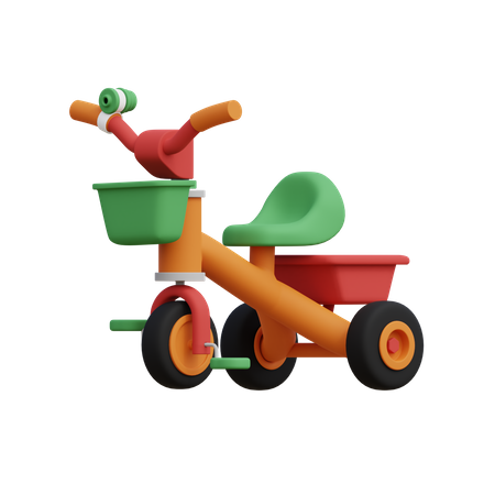 Kids tricycle 3D Illustration