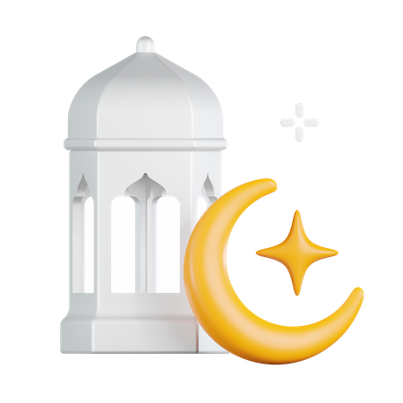 Lantern Moon 3D Illustration