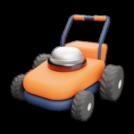 Lawn Mower 3D Illustration