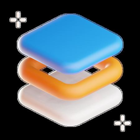 Layers 3D Illustration