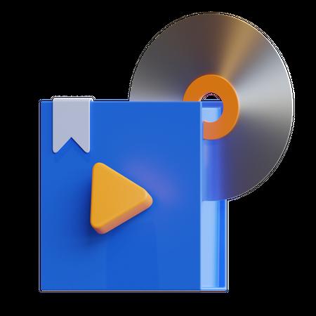 Learning Disk 3D Illustration