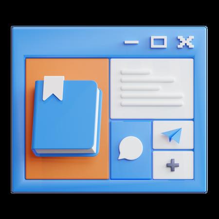 Learning Platform 3D Illustration