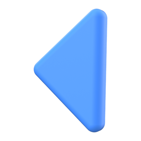 Left arrow 3D Illustration
